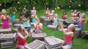 Foto van opname videoclip De Citrussong (2014)